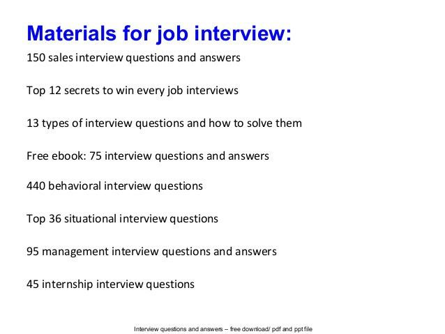 sample marketing interview questions