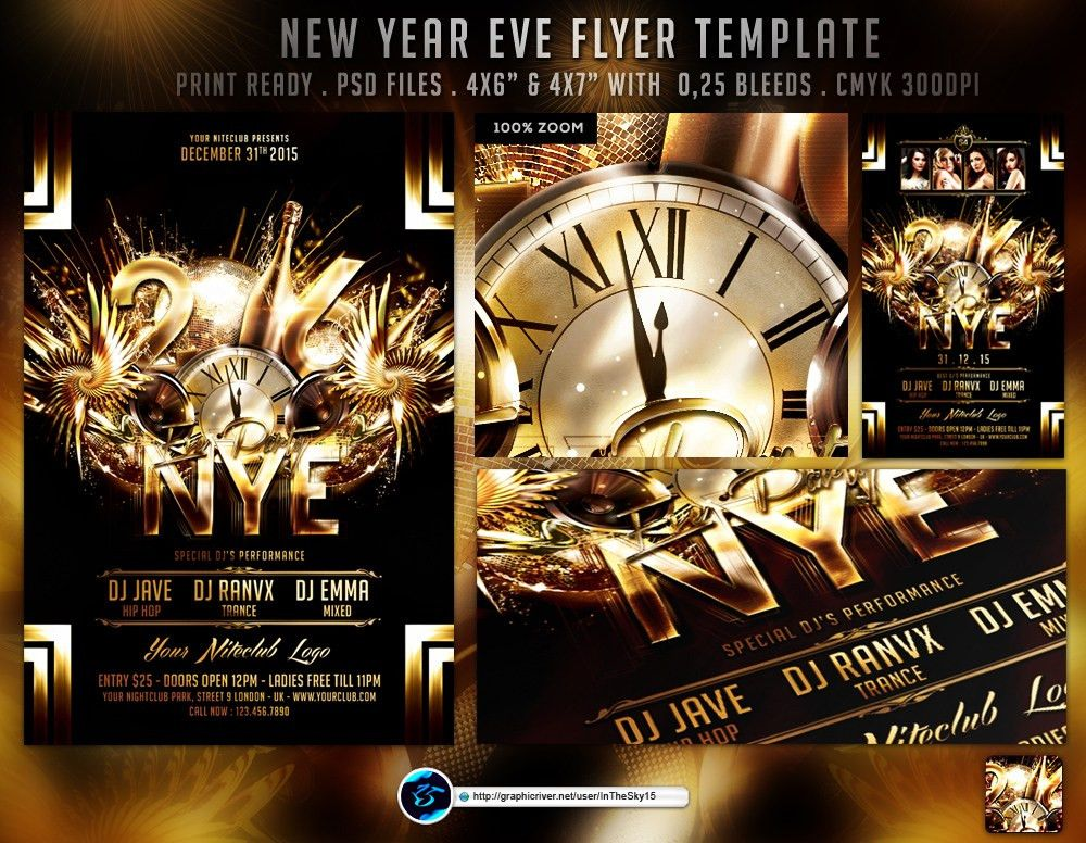 New Year Eve Flyer Template by ranvx54 on DeviantArt