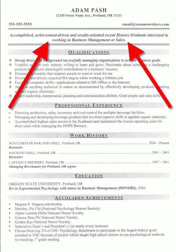 Resume Objective Example: How to Write a Resume Objective