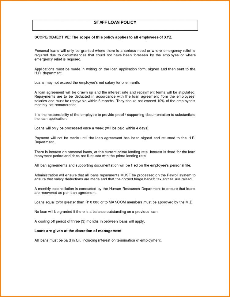 Simple Loan Document 5 Loan Agreement Templates To Write Perfect – Sample of Loan Agreement Letter