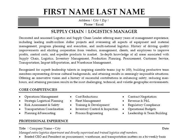 10 best Best Logistics Resume Templates & Samples images on ...