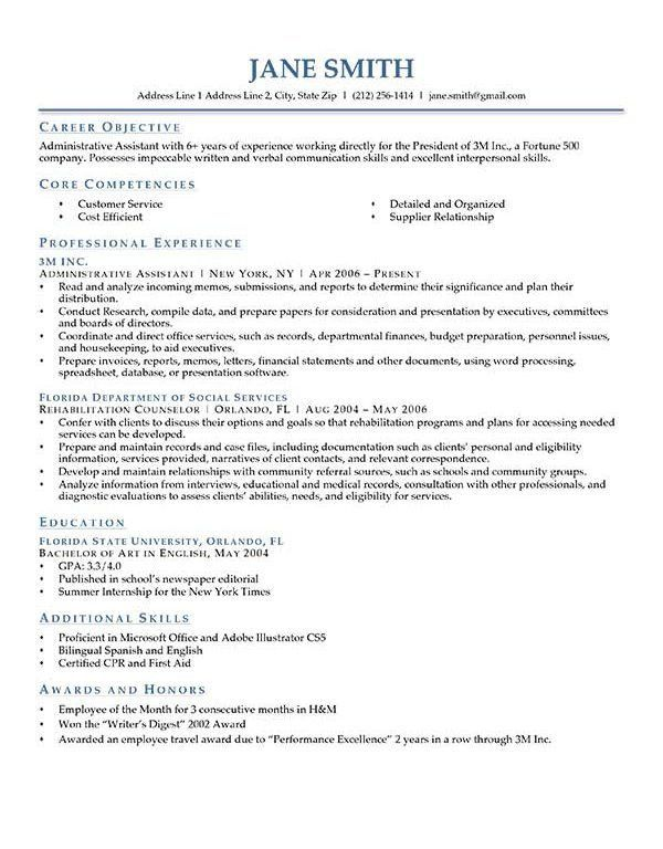 Gorgeous Design Good Objective For Resume 7 How To Write A Career ...