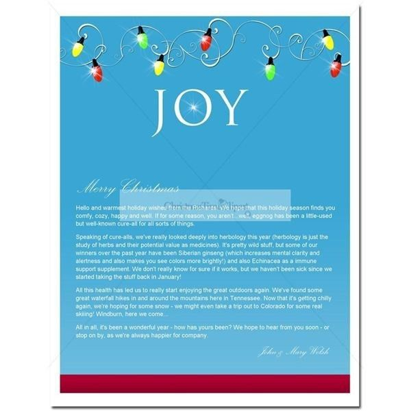 Christmas Letter Templates Business | Template Idea