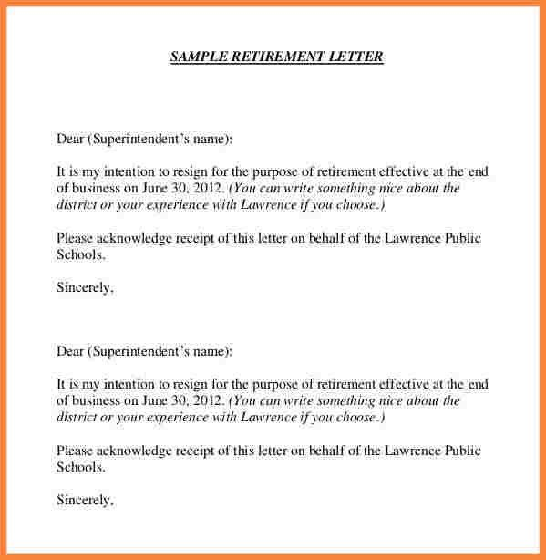 Best Retirement Letters Photos - Best Resume Examples for Your Job ...