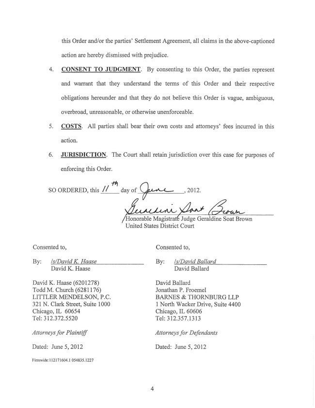 Professional Sample of Last Page Agreement Format Between Two ...