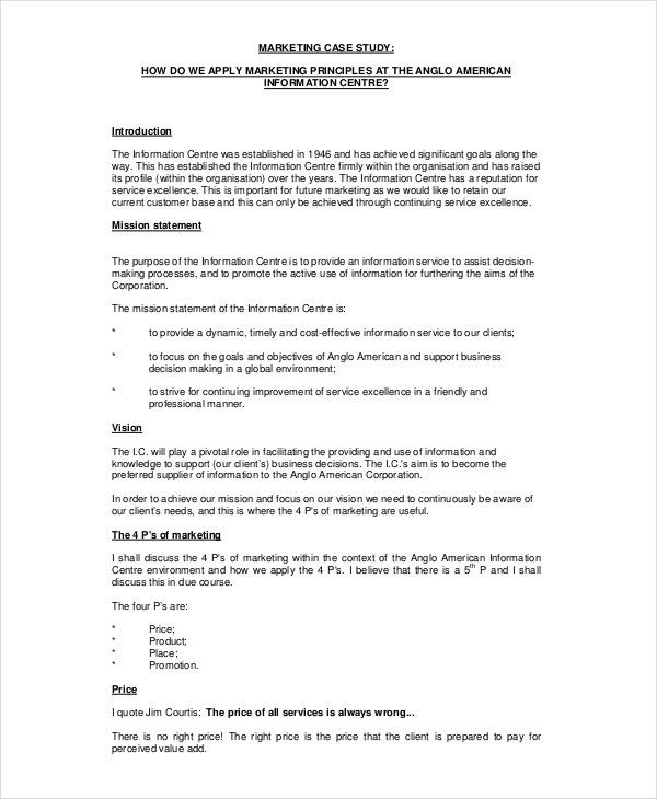 10+ Case Study Templates - Free Sample, Example, Format | Free ...