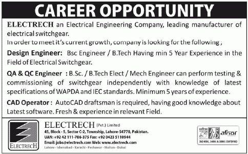 Operator Job, Electrech Job, Electrical Engineering Company ...
