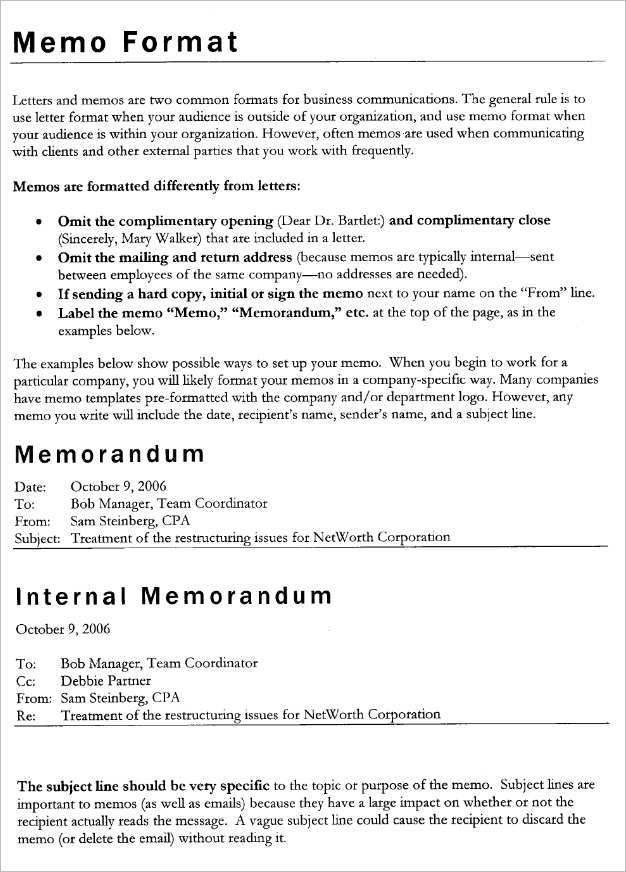 Sample Of Company Memorandum  BesikEightyCo