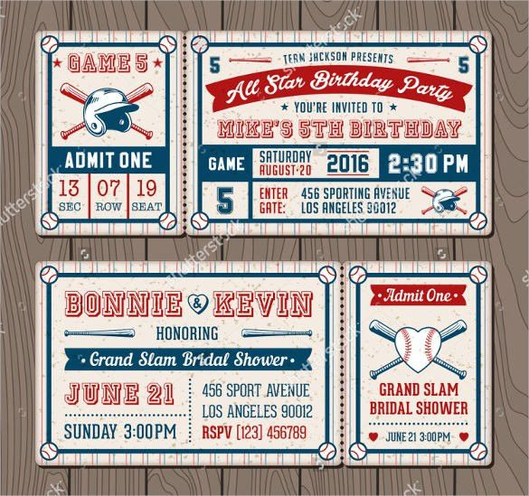 21+ Baseball Birthday Invitation Templates – Free Sample, Example ...