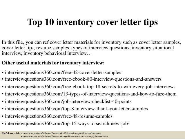 target team leader cover letter inventory control clerk sample ...