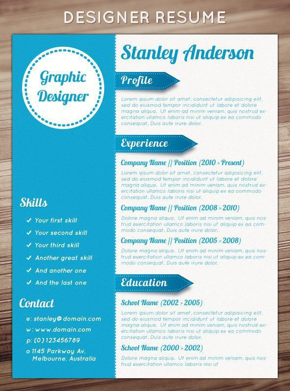 90 Best Graphic Arts... RESUME DESIGN Images On Pinterest | Resume .