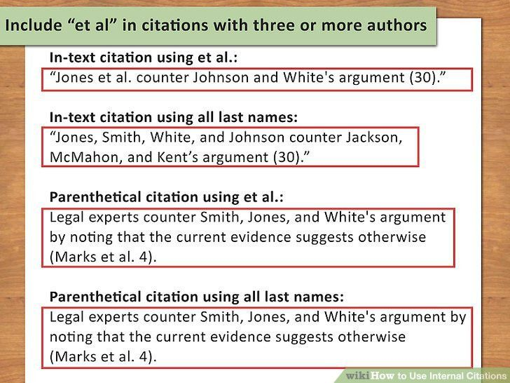 How to Use Internal Citations (with Pictures) - wikiHow