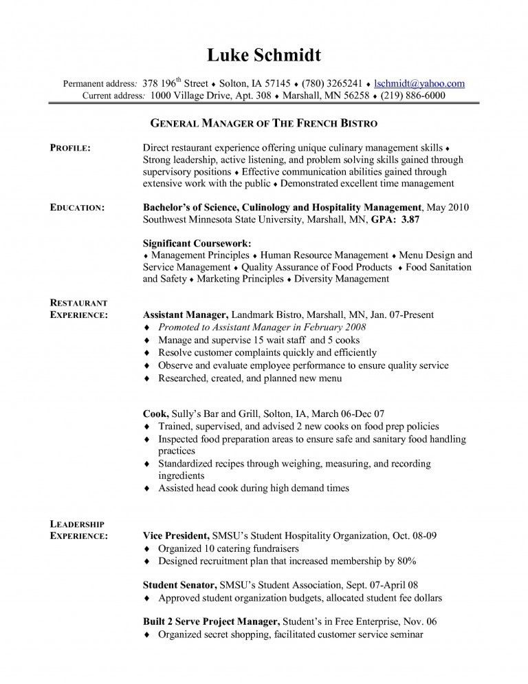Download Cook Resume | haadyaooverbayresort.com