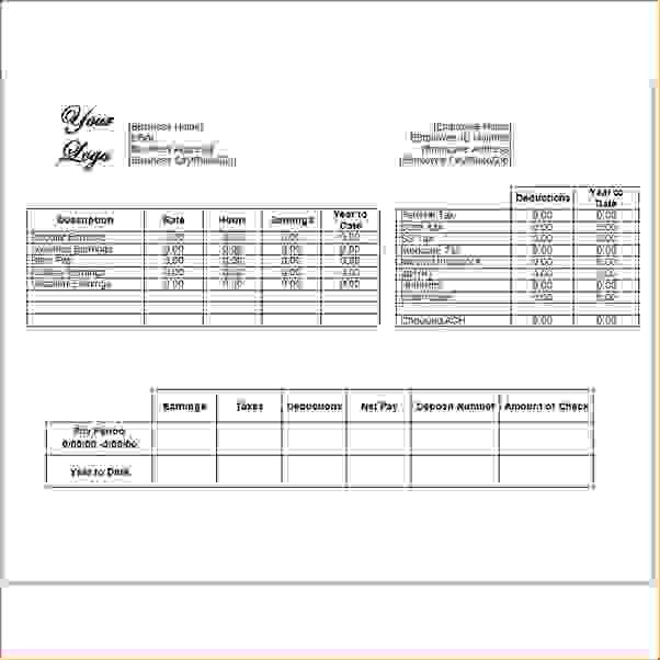 11 Check Stubs TemplateAgenda Template Sample | Agenda Template Sample