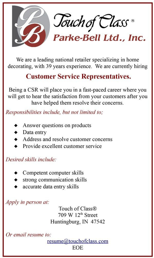 job sales representative job description resume. customer service ...