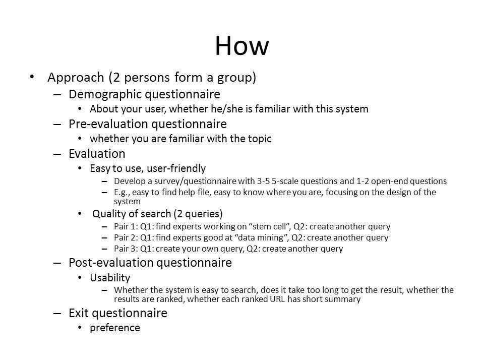 User-centered Information System Evaluation Tutorial - ppt download