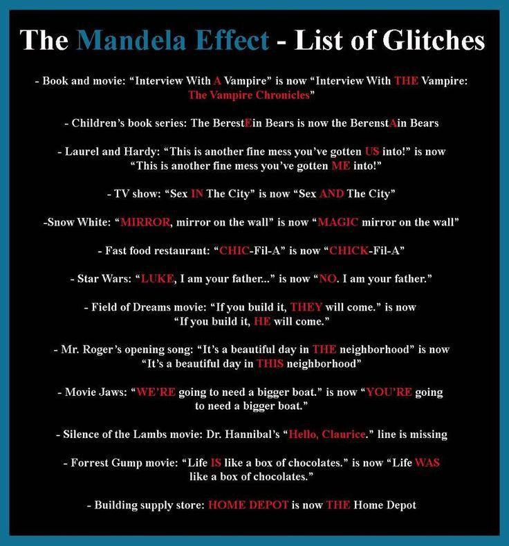 The 25+ best Mandela effect ideas on Pinterest | Mandela theory ...