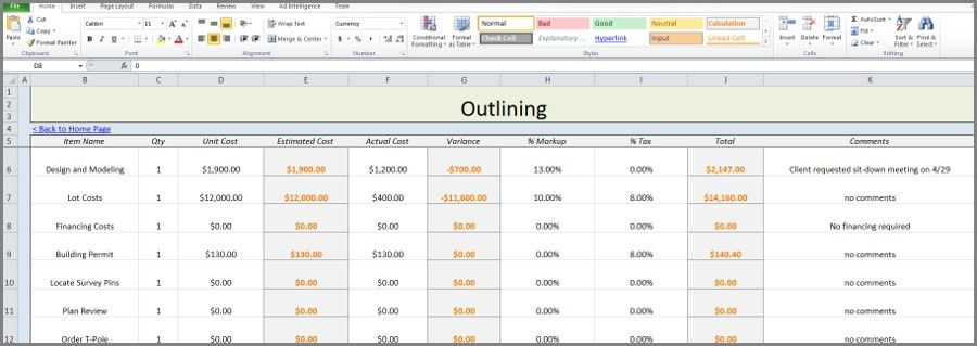 Free Construction Estimate Template Excel - vnzgames