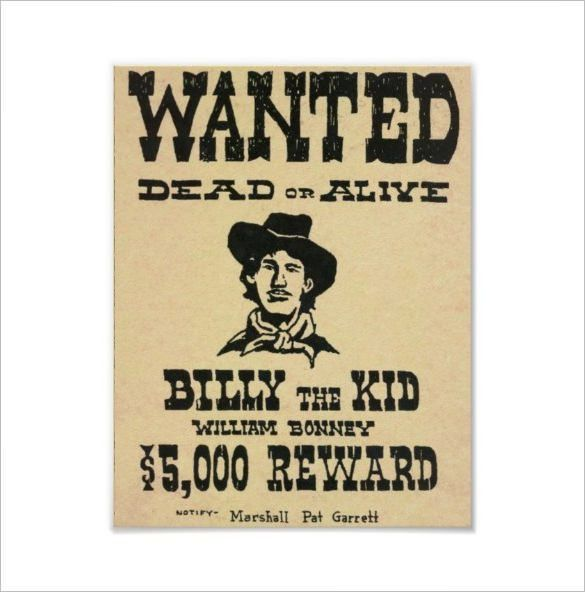 Old Wanted Poster - 11+ Free Printable, Word, PDF, PSD, Vector EPS ...