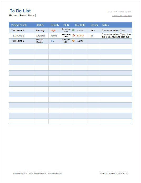 Project List Template. Sample Project Task List Template Free ...