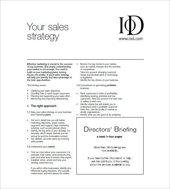 Sales and Marketing Plan Template – 10+ Free Word, Excel, PDF ...