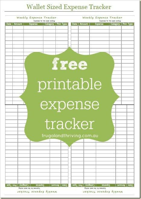 Free Printable Expense Tracker - Take Control of Your Spending