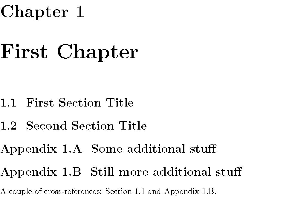 appendices - Table of Contents and subappendices - TeX - LaTeX ...