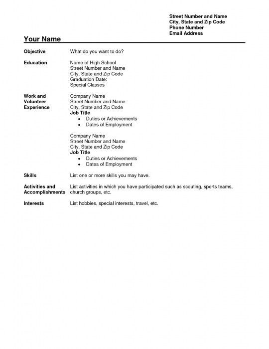 High School Student Resume Examples. Example High School Resume ...