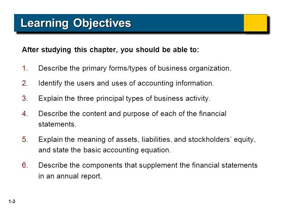 INTRODUCTION TO FINANCIAL STATEMENTS Financial Accounting, Seventh ...