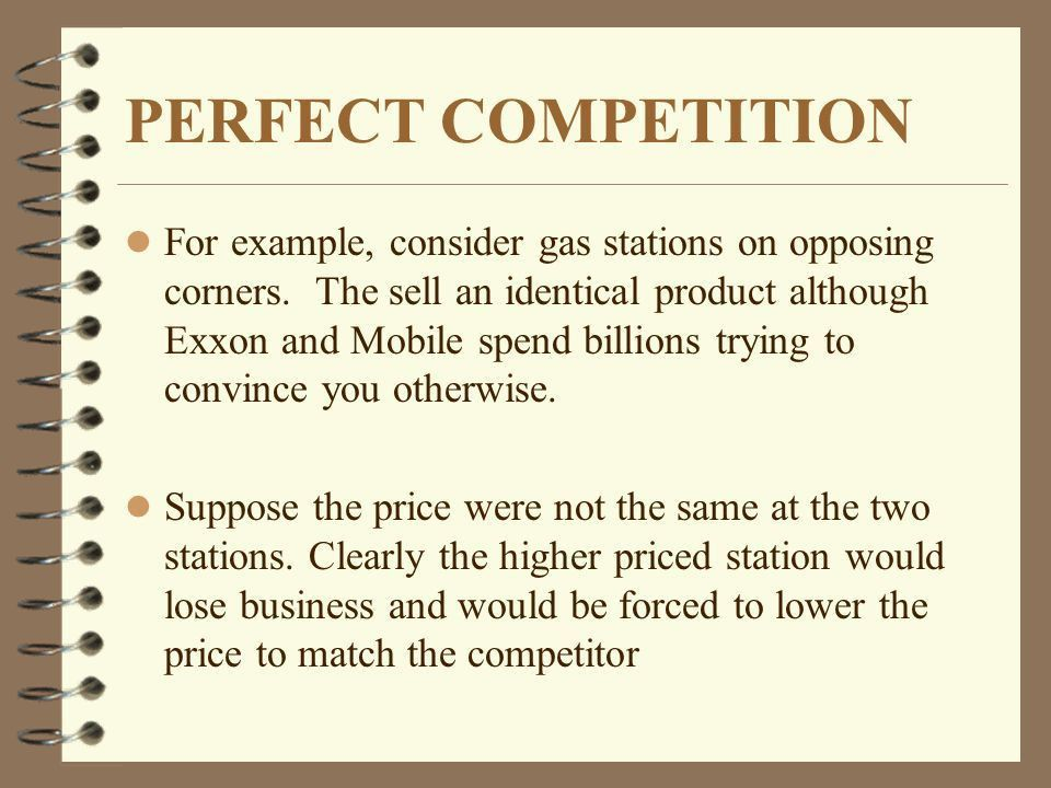 PERFECT COMPETITION Microeconomics Made Easy by William Yacovissi ...