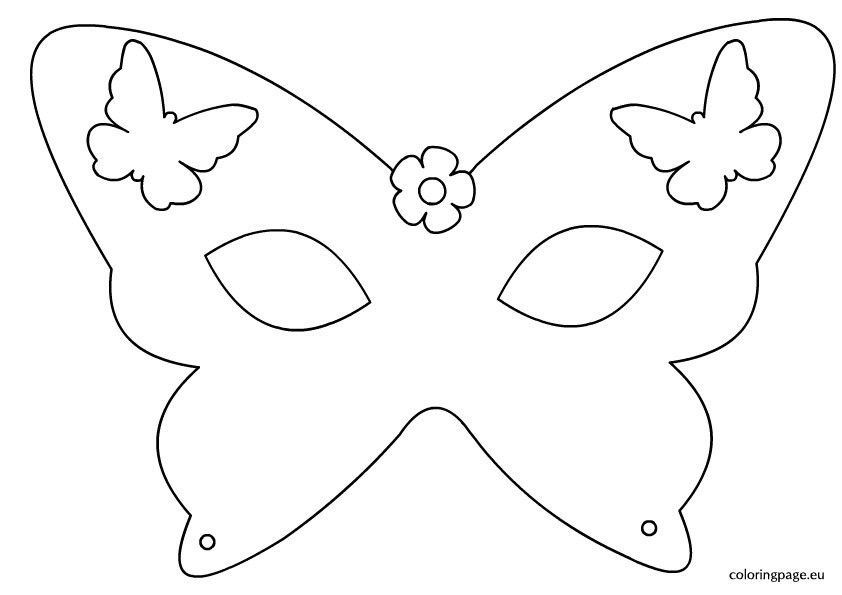 Mask Coloring Pages Mardi Gras Mask Template And Carnival Mask In ...