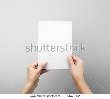 Woman Hands Holding Blank Paper Sheet Stock Photo 535643362 ...