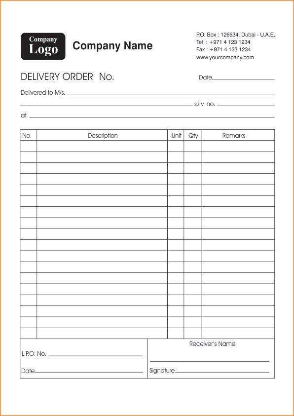 D/O books or Deliver Order Request Books Printing in Dubai, Abu Dhabi