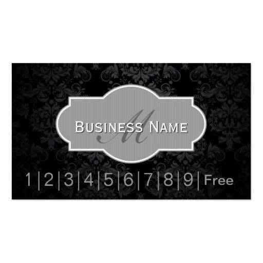 Salon loyalty punch card Business Card Templates | BizCardStudio