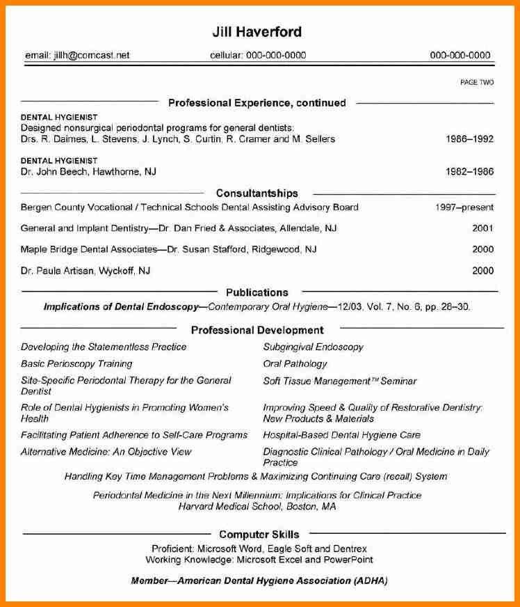 6+ dental resume format - mail clerked