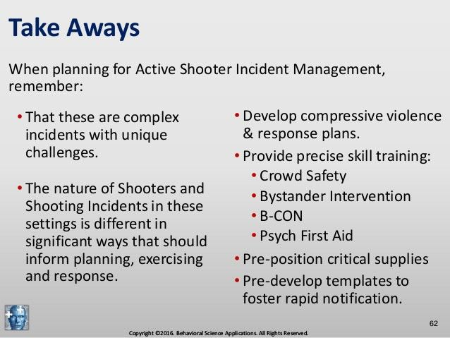 Comprehensive Active Shooter Incident Management