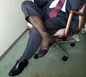 Mens Sheer Nylon Socks 70