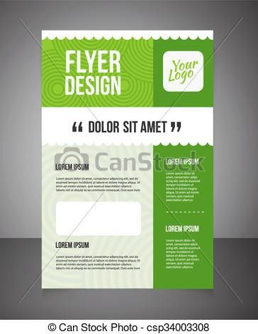 Vector Clipart of Business brochure or offer flyer design template ...