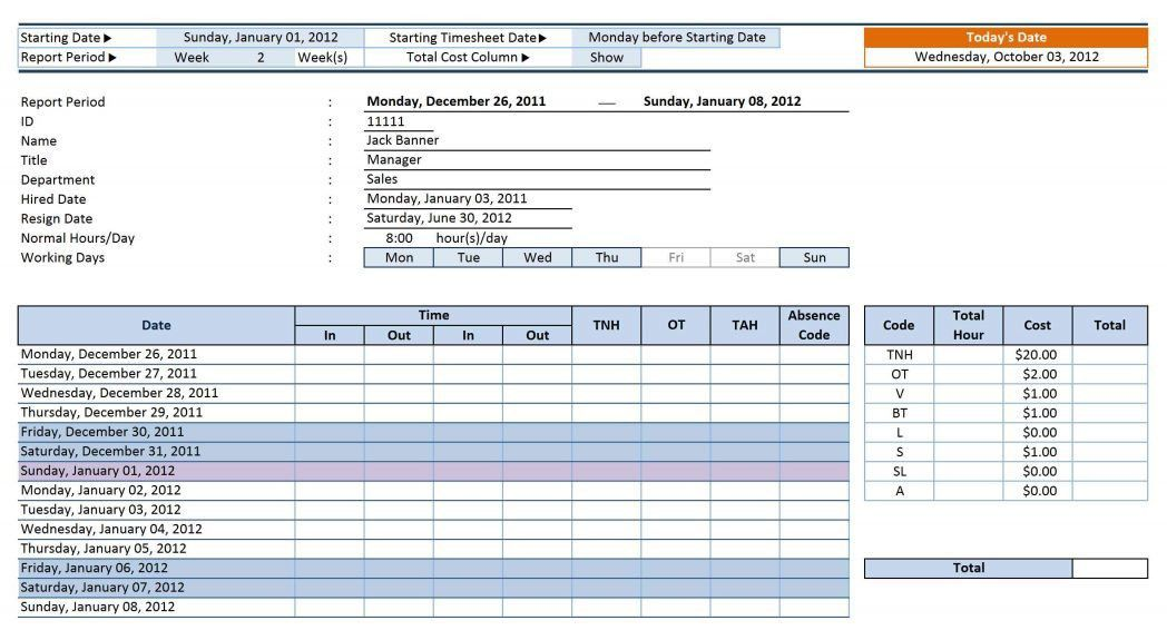 Job Sheet Template Billable Hours Word Job Card Template ~ Ptasso