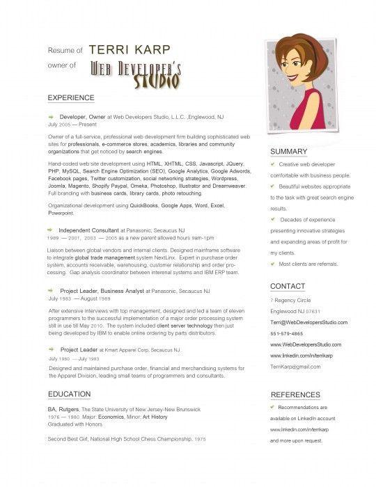 Stylish Simple Graphic Design Resume | Resume Format Web