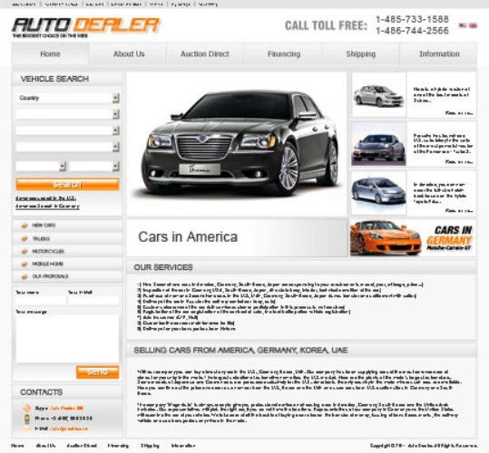 Auto Dealer Theme | Blog Website Templates.bz