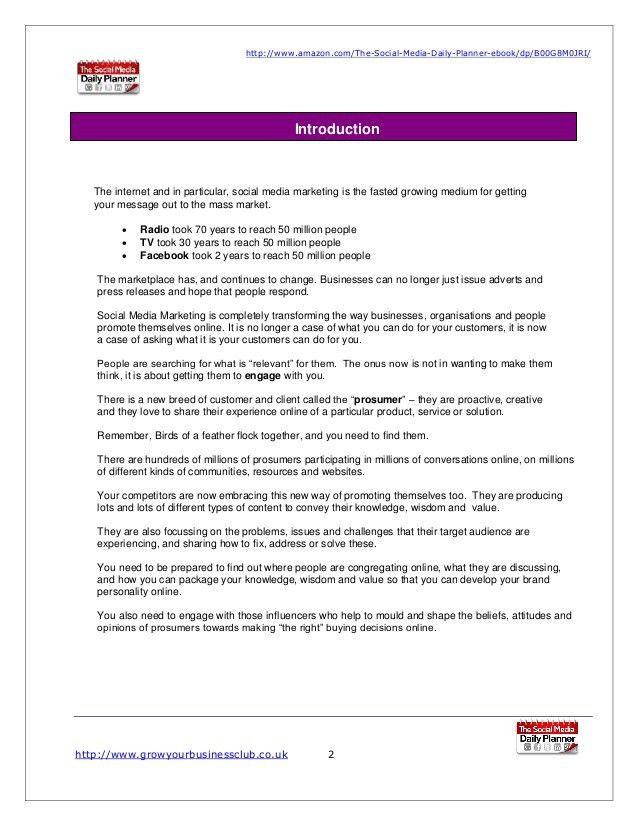 Social media marketing plan template 2017