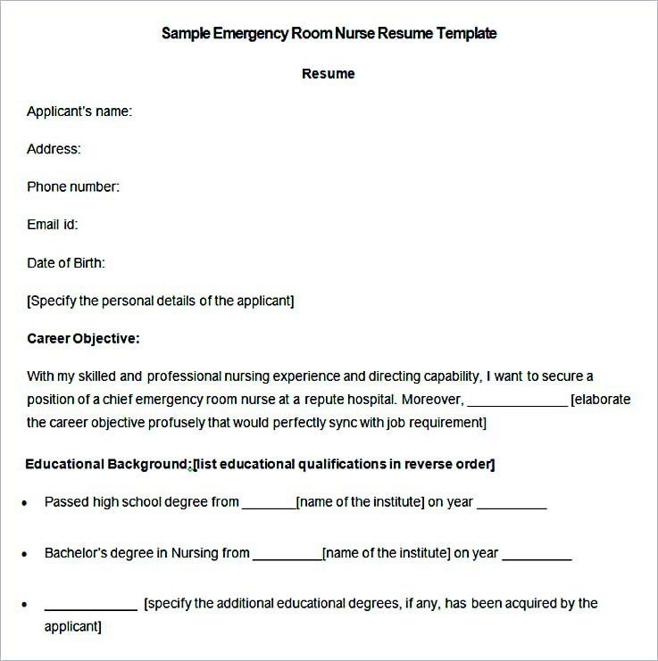 Emergency Room Nurse Resume Samples. er rn resume resume cv cover ...