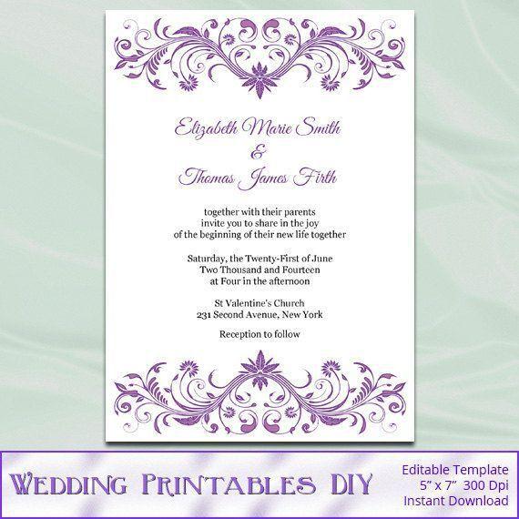 47 best Wedding Templates images on Pinterest | Wedding stationery ...