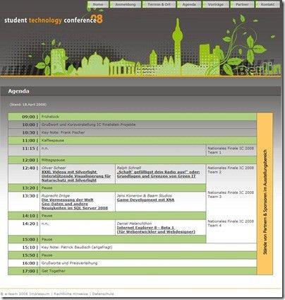Student Technology Conference 2008 Agenda | schrankmonster blog