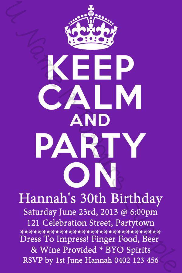 30th Birthday Invitation Template - Contegri.com