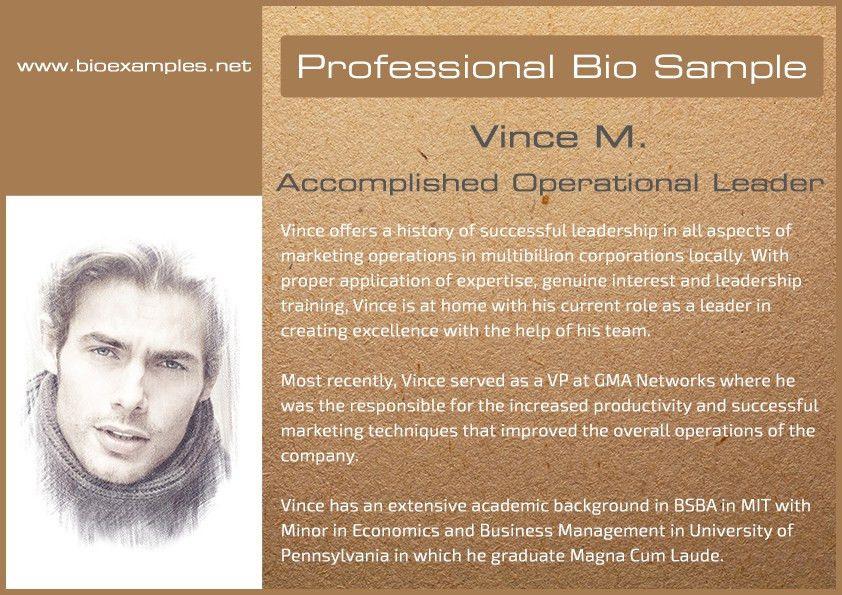 Professional bio sample | Bio Examples