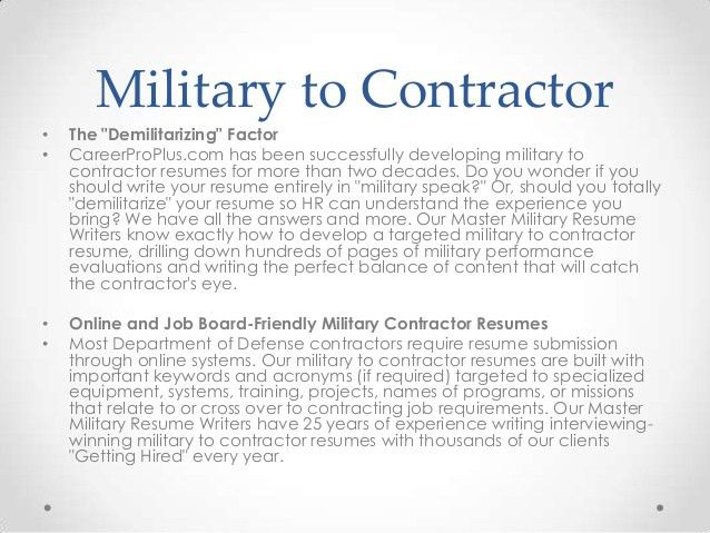 Military Contractor Cover Letter
