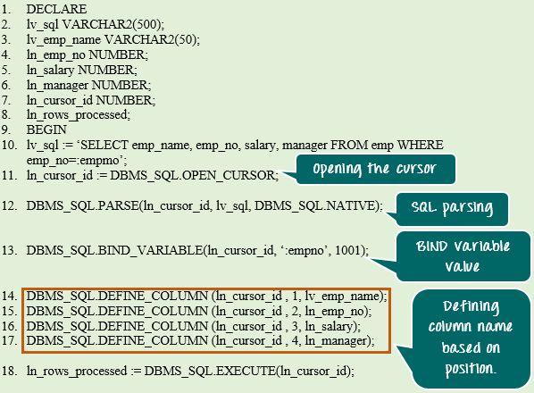 SQL in PL/SQL
