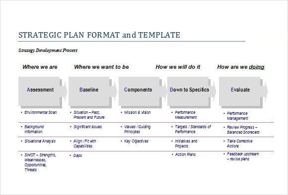 Sample Strategic Plan Template - 8+ Free Documents in PDF, Word